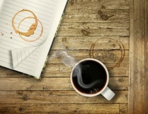 coffee-on-rough-wooden-table