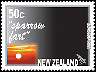 NZ even has a stamp to commemorate early in the morning