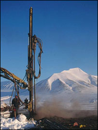 Drilling into the permafrost