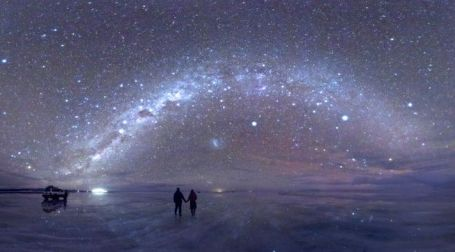The Milky Way from the Uyuni salt lake, the view was even better from Alota