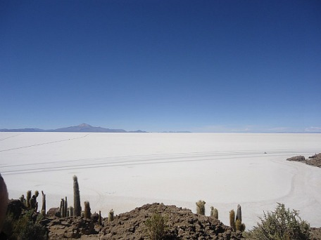 Looking across the salt lake from Isla de Pescadores