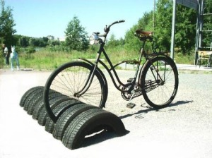 A bicycle stand