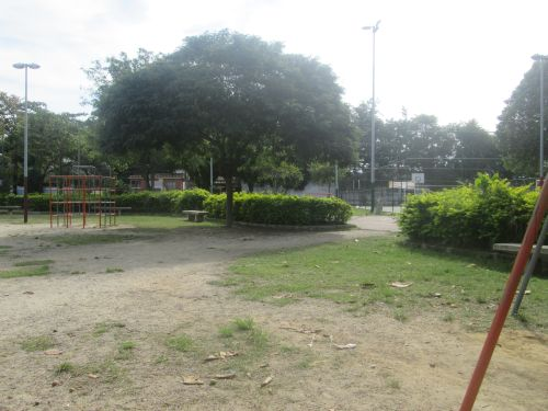 Our praça from in front of my gate